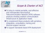 scope charter of aci