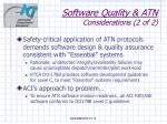 software quality atn considerations 2 of 2