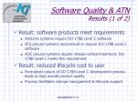 software quality atn results 1 of 2