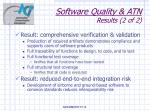 software quality atn results 2 of 2