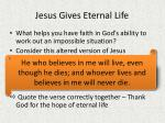 jesus gives eternal life1