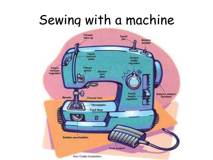 Sewing with a machine