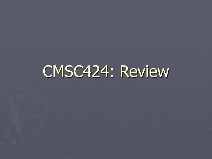 cmsc424 review n.