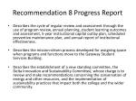 recommendation 8 progress report1
