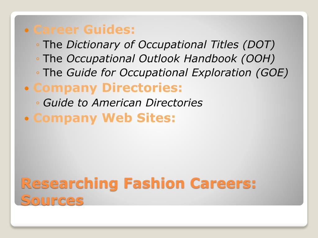 Career Guides: