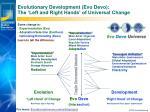 evolutionary development evo devo the left and right hands of universal change