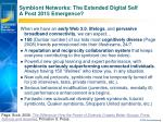 symbiont networks the extended digital self a post 2015 emergence