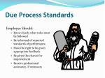 due process standards