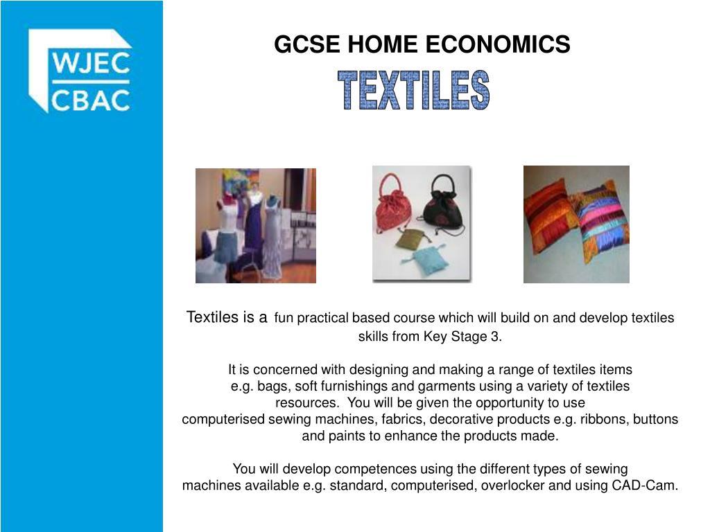 GCSE HOME ECONOMICS