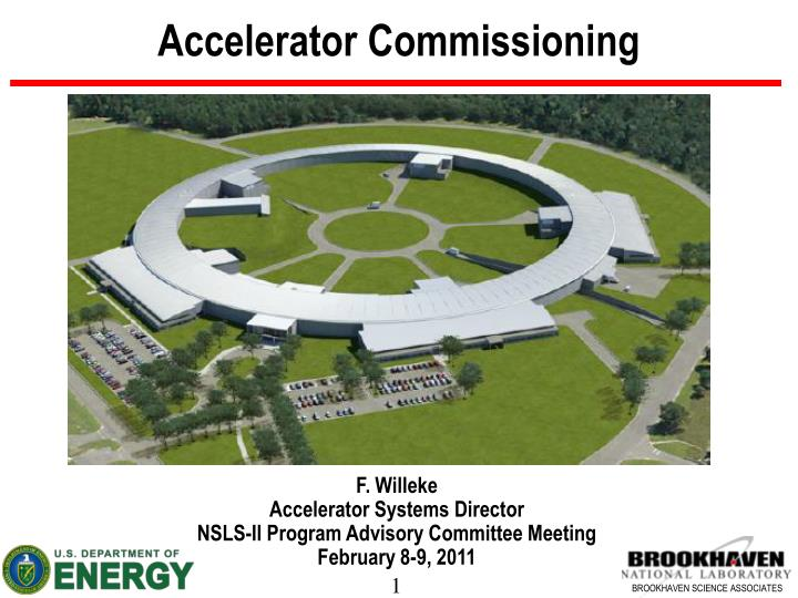 accelerator commissioning n.