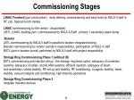 commissioning stages