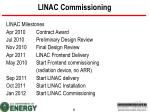 linac commissioning