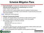 schedule mitigation plans