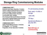 storage ring commissioning modules
