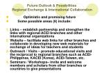 future outlook possibilities regional exchange international collaboration