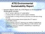 atis environmental sustainability report