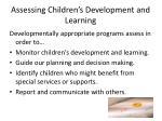 assessing children s development and learning