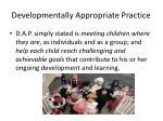 developmentally appropriate practice1