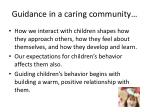 guidance in a caring community