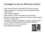 strategies to be an effective teacher