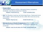 assessment alternatives