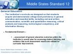 middle states standard 12