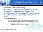 middle states standard 14