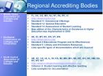 regional accrediting bodies