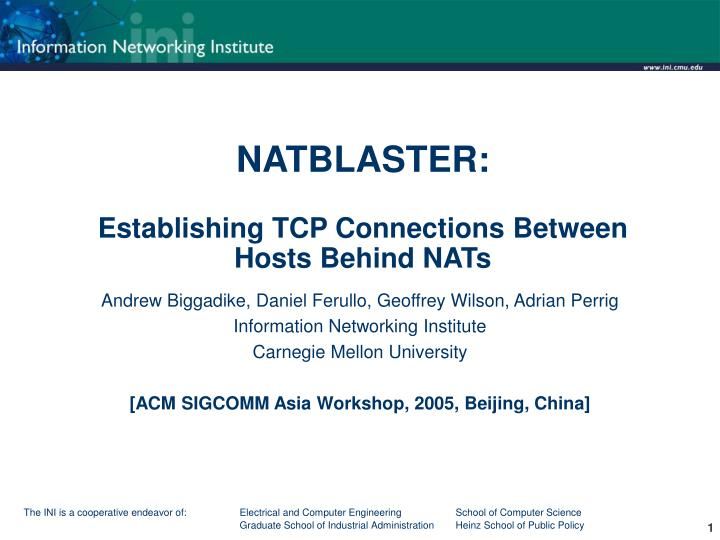 natblaster establishing tcp connections between hosts behind nats n.