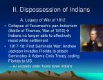 ii dispossession of indians