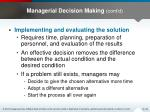 managerial decision making cont d2