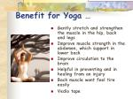 benefit for yoga