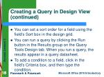creating a query in design view continued1