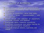 root causes of accidents