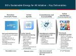 sg s sustainable energy for all initiative key deliverables
