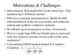 motivations challenges