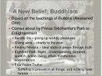 a new belief buddhism