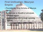first unification mauryan empire