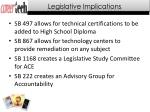 legislative implications
