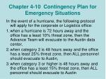 chapter 4 10 contingency plan for emergency situations