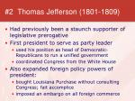 2 thomas jefferson 1801 1809