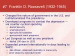 7 franklin d roosevelt 1932 1945