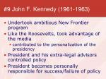 9 john f kennedy 1961 1963