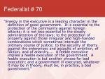 federalist 70