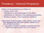 presidency historical perspective