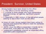 president survivor united states