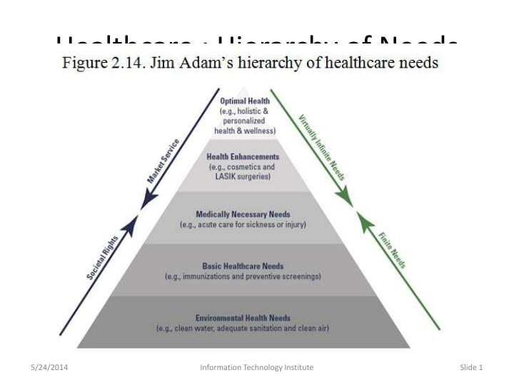 healthcare hierarchy of needs n.