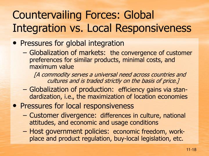 global integration and local responsiveness