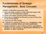 fundamentals of strategic management basic concepts
