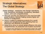 strategic alternatives the global strategy